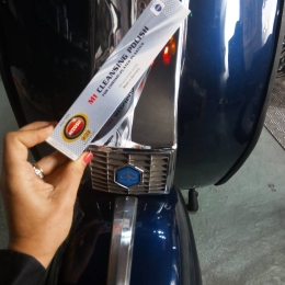 M1 polish for chrome-plated plastics
