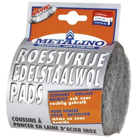 Stainless Steel Wool pads extra fine - Metalino