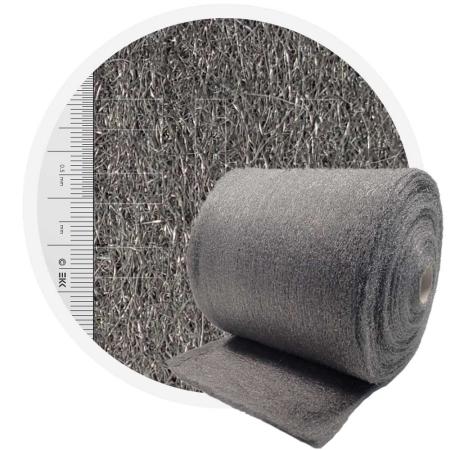 Stainless Steel Wool 1.4113 crossed 400 mm - 70 μm, ± 1200 gr/m2